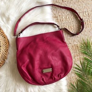 Marc Jacobs Hillier Q Leather Hobo Bag in Peony